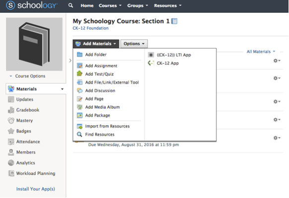 Ck 12 schoology easier and faster lesson planning if you are an administrator or a teacher using schoology and want to use ck 12 content please fill out the form found here stopboris Image collections